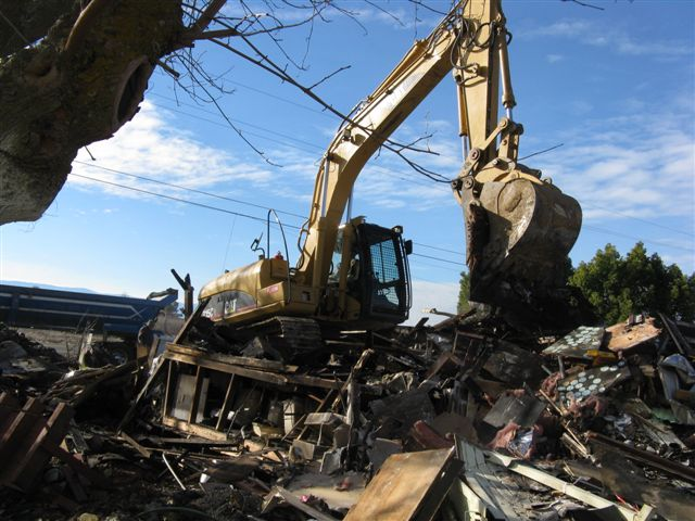 Demolition of Mobile Home