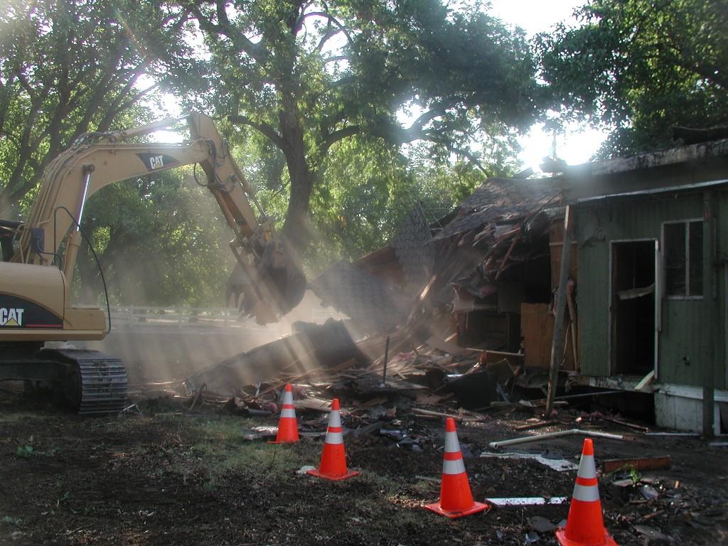 Demolition of Burned Home