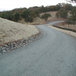 Driveway with cobbled bar ditch